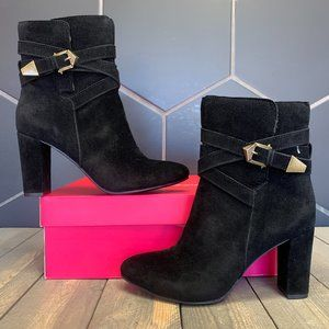 ShoeDazzle Joaquina Booties Boots Buckled Black